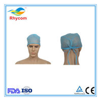 Disposable non-woven tied doctor cap-RK1005 -