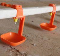 Sistema de rega automática do assoalho das aves domésticas com copo do gotejamento -