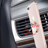 2018 New Metal Electroplating Rust-proof 360-degree rotary adsorption car mobile phone Tablet PC support frame -