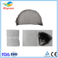 Disposable nylon mesh cap/disposable invisible hair net cap -