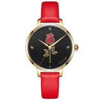 Retro rose Stainless steel Ladies Watch -