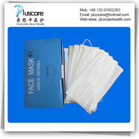 nonwoven surgical face mask with ties -