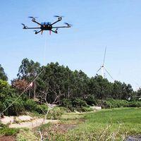 Veículo aéreo não tripulado do linha do poder -