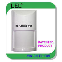 Wired wide angle PIR motion detector for indoor security -