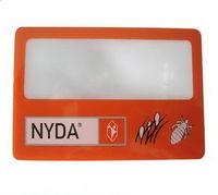 Dr018 plástico do cartão de nome Business Card Magnifier para brindes promocionais -