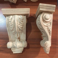 Home decoration Rubber wood carving corbel -