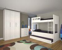 Wood Furniture Bunk Bed - 03 Drawers -