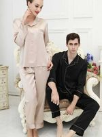 Silk Couples Pajamas -