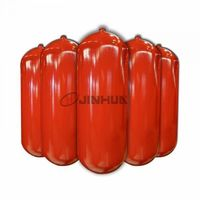 CNG steel cylinder for vehicles 406-90L in red -