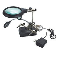 MG16129-C Hands Free Auxiliary Clip Magnifier with External Power -