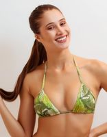 SMOOTH AND PRINTED HALTER TOP -