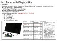 Panel LCD TFT con la tarjeta controladora de LCD -