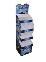 Soporte de exhibición de papel de venta por menor promoción galleta sección personalizada -