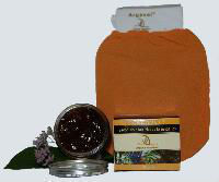 Moroccan black soap  with  exfoliating Glove  -