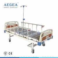 2 function crank medicare manual adjustable medical therapy metal hospital bed -