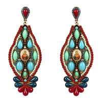 Earring of Crystal and Stones Foscas -