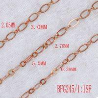 Brass figaro chain -