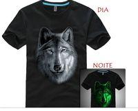 Black t-shirt Logo glows in the dark -