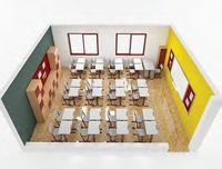 Espaços de sala de aula -