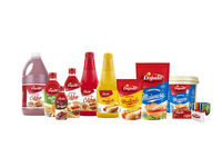 Ketchup, mayonnaise and mustard (Condiment) -