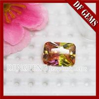 Diamond Cut Multi-color Synthetic Glass Gems -