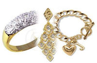 Gold and silver plated jewelry -