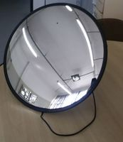 Panoramic mirror with built-in chamber -