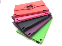 2018 new design colorful 360 degree rotation stand leather protective case for ipad -