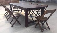 Folding table solid wood -