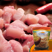FROZEN FILLET OF TAMBAQUI INTO CUBES -