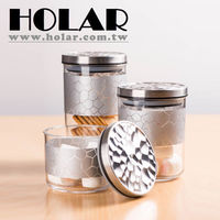 Taiwan Made Rose Gold Silver Plastic Food Storage Containers with Acrylic -
