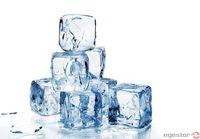 hielo en cubos -