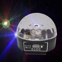 Rojo, verde y azul de tres colores integrado LED mini lámpara de bola cristal lámpara de bola de iluminación club nocturno -