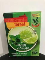 Yerba MATE GALON for TERERÉ 500GR-LEMON Mint FLAVOR. -