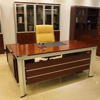 Factory Directly Wholesale Modern Office Furniture Veneer Office Furniture Manager Table  -