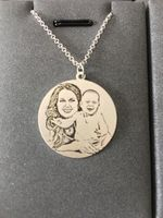 Moda 925 prata mãe e filho colar de personalizado (feminino) -