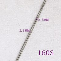 Stainless steel curb chain for jewelry -