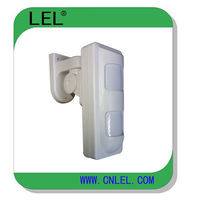 Waterproof outdoor motion detector with dual PIR and microwave motion sensor -
