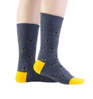Custom Chunky Colored Mens Dress Socks Custom Plain Knit Prime 100% Cotton Socks For Men -