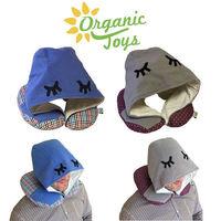 有机玩具旅行枕头带帽的男人 -