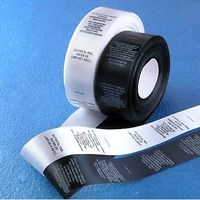 printed label -