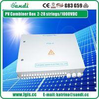 PV sistema DC 1000V seguro y confiables 16 cadenas PV array caja combinador -