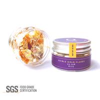 Q-loca 23K Edible Gold Leaf Flakes, Decorating Cake, Cupcake 30 mg -
