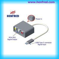 USB tipo C de saída AV para monitorar o adaptador -