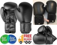 Real Cowhide Leather Boxing Gloves Sparring Plain Unbranded Boxing 14oz Gloves -