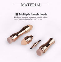 4 in 1 Private Label Mini Cosmetic Tools Waterproof Foundation Makeup Kit Lip Eye Shadow Brush Wholesale Glitter Makeup Brush -