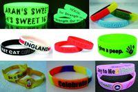 silicone wristbands -