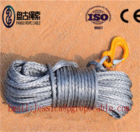 15m Length 4mm 5mm Synthetic winch rope made in China UHMWPE -