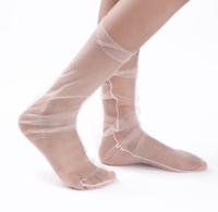 Atacado estoque moda mulheres Hot glitter estrelas meias Sheer meias de tule -