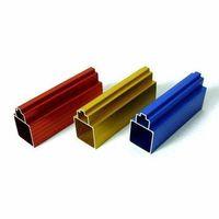 Perfil de aluminio pulido mecánicamente -